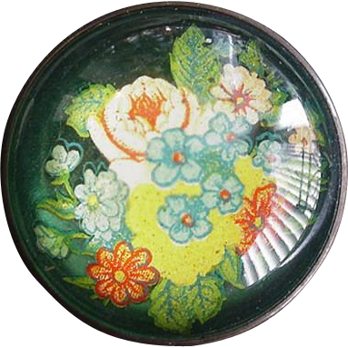 Vintage Paperweight Pin