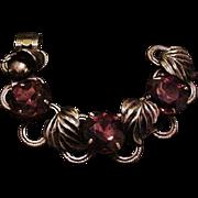 Big Chunky Violet Rhinestone Bracelet