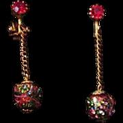 Volcanic Art Glass Earrings