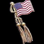 Vintage US Flag Pin