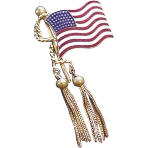 Vintage US Flag Pin