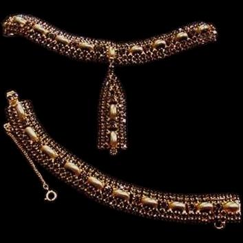 Fab Black Rhinestone Necklace and Bracelet