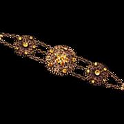 Old Brass and Glass Bracelet