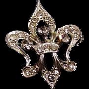 Rhinestone Fleur de Lis Pin