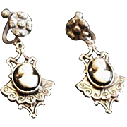 Victorian Revival Cameo Earrings