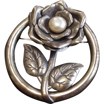 Brass Floral Pin