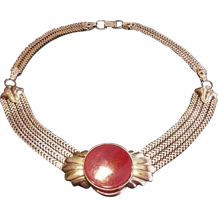 Vintage Brass Necklace