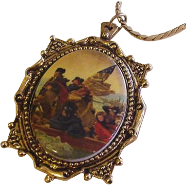 Washington Crossing the Delaware Necklace