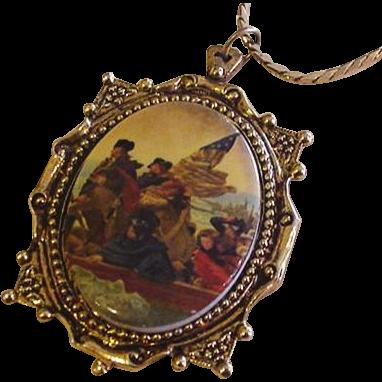 Washington Crossing the Delaware Necklace
