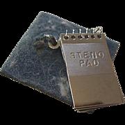 Wells Sterling Silver Steno Pad Charm