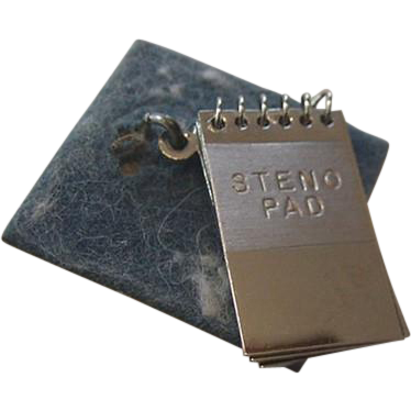 Wells Sterling Silver Steno Pad Charm