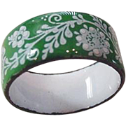 Enameled Cigar Band Ring