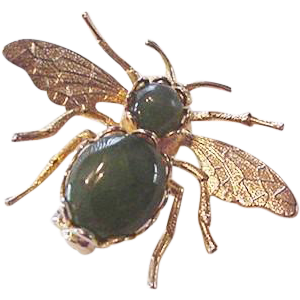 Jade Fly Pin