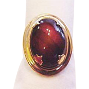 Burgundy Art Glass Ring