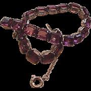 Amethyst Rhinestones Bracelet