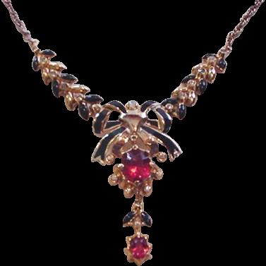 Retro Modern Rhinestone Necklace