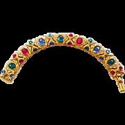 Jewel Tones Rhinestone Bracelet