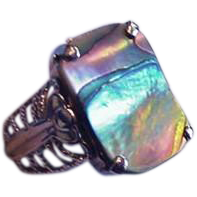 West Germany Abalone Ring