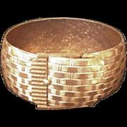 Copper Basket Weave Bracelet