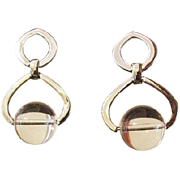 Dangling Lucite Earrings