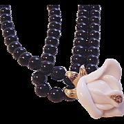 KJL for Avon White Rose Necklace