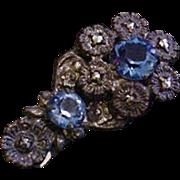 Lovely Blue Glass Dress Clip