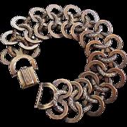 Art Deco Copper Circles Bracelet