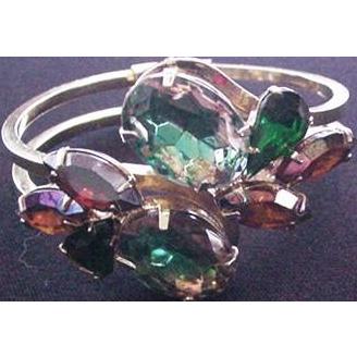 Hinged Rhinestone Bangle Bracelet