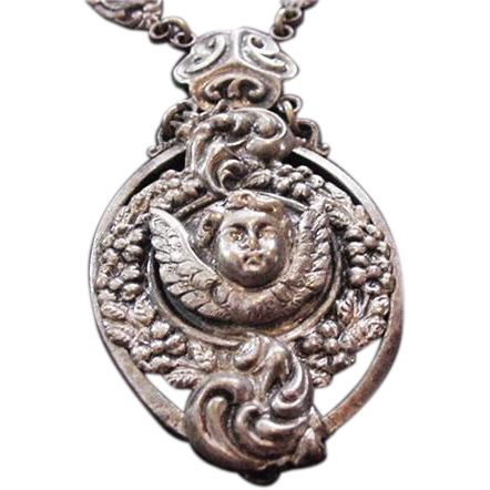 Victorian Cherub Necklace