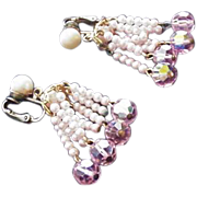 Pale Pink Crystal Earrings