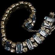 Azure Blue Rhinestone Bracelet