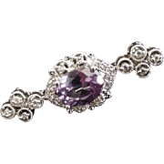 Purple Rhinestone Pin