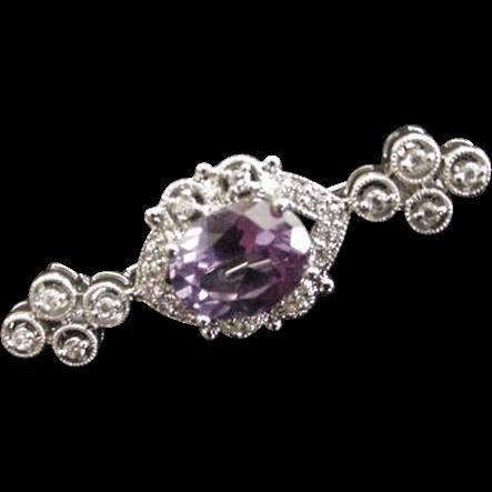 Purple Rhinestone Pin