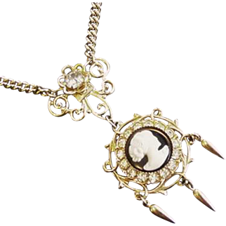 Victorian Revival Cameo Necklace