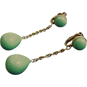 Blue Drops Trifari Earrings