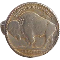 Buffalo Nickel Ring