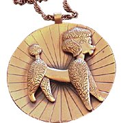 Large Copper Poodle Necklace
