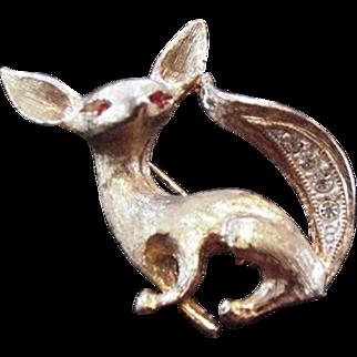 Little Gold Fox Pin