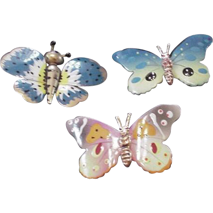 Butterflies Pin Set
