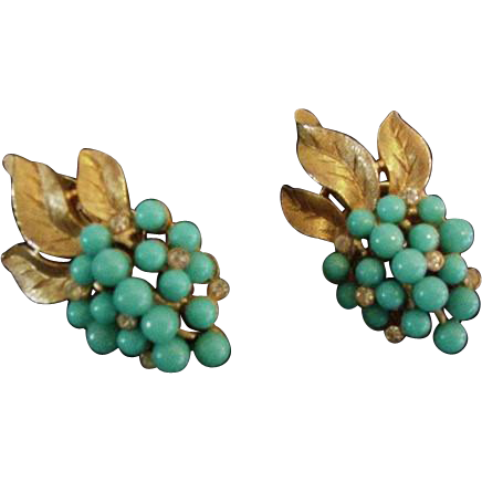 Trifari Blue Earrings