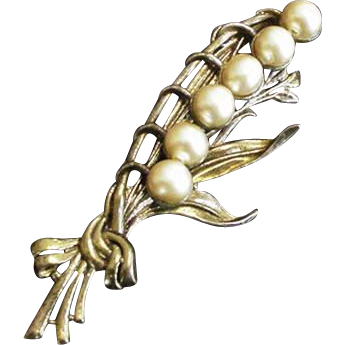 Pot metal Lily of the Valley Pin