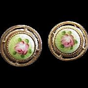 Art Deco Enameled Earrings
