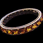 Vendome Topaz Glass Bracelet