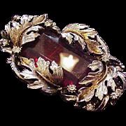 Big Big Red Glass Pin Pendant