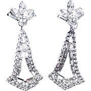 Rhinestone Earrings Big