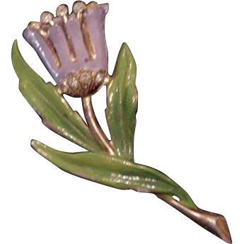 Fred Gray Potmetal Flower Pin