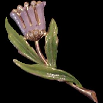 Fred Gray Potmetal Flower Pin