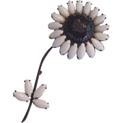 Weiss Rhinestone Flower Huge Pin