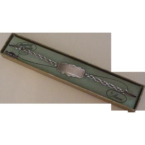 Sterling Silver Hopalong Cassidy Bracelet NIB