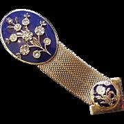 Cobalt Blue Lisner Fur Clip